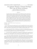 Journal of Business Case Studies – November/December 2009  Volume 5, Number 6 13 An Apparel Brand's Channel Strategy: The Case of Oliver in Korea