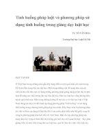 tình huống pháp luật và phương pháp sử dụng tình huống trong giảng dạy luật học