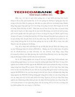 Chiến lược marketing của ngân hàng Techombank