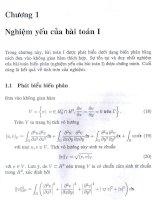 nghiệm một số bài toán uốn tấm nhiều lớp, chương 1