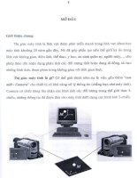 nghiên cứu và giải bài toán khôi phục cấu trúc xạ ảnh từ ba ảnh trong thị giác máy tính, phần mở đầu