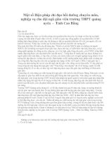 Một số Biện pháp chỉ đạo bồi dưỡng chuyên môn, nghiệp vụ cho đội ngũ giáo viên trường THPT quảng uyên  -  Tỉnh Cao Bằng