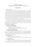 Phương pháp dạy một tiết thực hành môn hoá học lớp 9