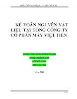 Kế toán nguyên vật liệu tại công ty cổ phần may Việt tiến