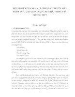 MỘT SỐ BIỆN PHÁP QUẢN LÝ CÔNG TÁC CHUYÊN MÔN NHẰM NÂNG CAO CHẤT LƯỢNG DẠY-HỌC TRONG NHÀ TRƯỜNG THPT