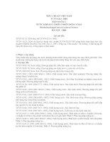 TIÊU CHUẨN VIỆT NAM TCVN 6213: 2004 Xuất bản lần 2 NƯỚC KHOÁNG THIÊN NHIÊN ĐÓNG CHAI