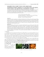 Nghiên cứu chiết tách và xác định hàm lượng Axit trong lá , vỏ cây bứa