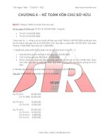 Bài giảng Kế toán tài chính: Kế toán vốn chủ sở hữu