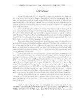 MỘT SỐ GIẢI PHÁP NHẰM TĂNG CƯỜNG QUẢN LÍ VÀ SỬ DỤNG ODA Ở VIỆT NAM TRONG XU THẾ HỘI NHẬP KINH TẾ QUỐC TẾ