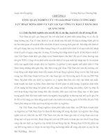 TỔNG QUAN NGHIÊN CỨU VỀ GIẢI PHÁP TĂNG CƯỜNG HIỆU LỰC HOẠT ĐỘNG KHO VÀ VẬN TẢI TẠI CÔNG TY ĐẠI LÝ HÀNG HẢI QUẢNG NINH