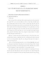 Các vấn đề cơ bản của Marketing trong nghiệp vụ kinh doanh dịch vụ