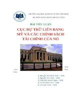 Cục dự trữ liên bang Mỹ và các chính sách tài chính của nó