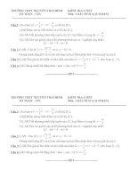 Đề kiểm tra môn toán khối 12