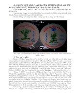 HAI VỤ VIỆC XÂM PHẠM QUYỀN SỞ HỮU CÔNG NGHIỆP ĐƯỢC GIẢI QUYẾT BẰNG KIỆN DÂN SỰ TẠI TÒA ÁN