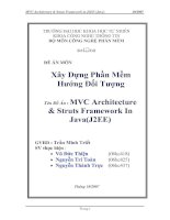 MVC Architecture  & Struts Framework In  Java(J2EE)