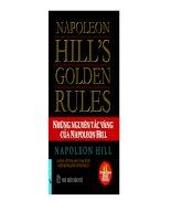 Những nguyên tắc vàng cảu Napoleon Hill