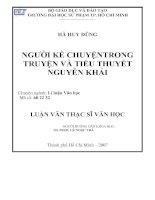 Người kể chuyện trong truyện và tiểu thuyết Nguyễn Khải