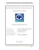 Báo cáo thực tập tại Công Ty TNHH TM Hoàng Chung