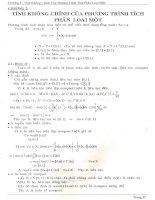 tính không chỉnh của phương trình tích phân loại một