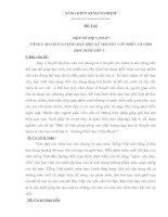 MỘT SỐ BIỆN PHÁP NÂNG CAO CHẤT LƯỢNG DẠY HỌC LÝ THUYẾT VĂN MIÊU TẢ CHO HỌC SINH LỚP 4 -