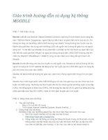 Giáo trình hướng dẫn sử dụng hệ thống MOODLE