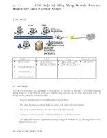 Giới thiệu hệ thống Mạng Domain Network Dùng trong Quản lý Doanh Nghiệp