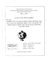 498 Nghiên cứu vận dụng điều kiện thương mại FCA vào các phương thức vận tải quốc tế trong hoạt động mua bán ngoại thương tại Việt Nam