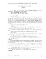 RÈN LUYỆN KĨ NĂNG VIẾT BÀI NGHỊ LUẬN TÁC  PHẨM VĂN HỌC CHO HỌC SINH LỚP 9.