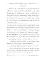 HOÀN THIỆN CÔNG TÁC PHÂN TÍCH BÁO CÁO TÀI CHÍNH DOANH NGHIỆP TRONG HOẠT ĐỘNG CHO VAY TẠI NGÂN HÀNG ĐẦU TƯ PHÁT TRIỂN VIỆT NAM CHI NHÁNH QUANG TRUNG
