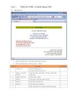 bài tập HTML và định dạng CSS