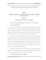 THIẾT KẾ CUNG CẤP ĐIỆN CHO NHÀ MÁY CƠ KHÍ ĐỊA PHƯƠNG VÀ KẾT CẤU LẮP ĐẶT TRẠM BIẾN ÁP VÀ TỦ HẠ ÁP