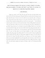 MỘT SỐ HOẠT ĐỘNG XÂY DỰNG VÀ PHÁT TRIỂN VĂN HÓA DOANH NGHIỆP, VĂN HÓA TỔ CHỨC TẠI CÔNG TY CP ĐẦU TƯ DỊCH VỤ VÀ THƯƠNG MẠI PHÚ THỊNH
