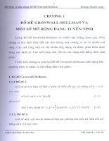 bộ đề gronwall - bellman và một số mở rộng dạng tuyến tính