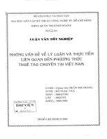 494 Những vấn đề về lý luận và thực tiễn liên quan đến phương thức thuê tàu chuyến tại Việt Nam