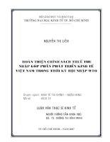 Hoàn thiện chính sách thuế thu nhập góp phần phát triển kinh tế Việt Nam trong thời kì hội nhập WTO