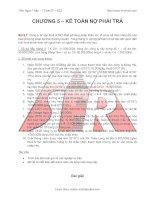 Bài giảng Kế toán tài chính: Kế toán nợ phải trả
