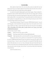 529 Một số biện pháp cải tiến khâu quản lý nguồn nhân lực tại Công ty Liên doanh TNHH Hải Hà - Kotobuki