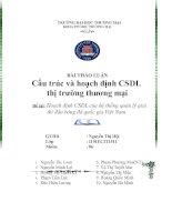 Hoạch định CSDL của hệ thống quản lý giải thi đấu bóng đá quốc gia Việt Nam