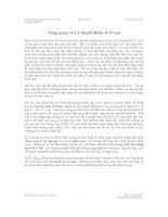 Tổng quan về Lý thuyết Kinh tế Vĩ mô