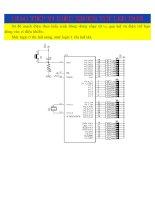Giao tiếp vi điều khiển với LED đơn