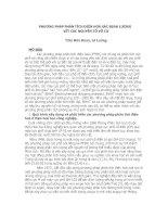 PHƯƠNG PHÁP PHÂN TÍCH ĐIỆN HOÁ XÁC ĐỊNH LƯỢNG  VẾT CÁC NGUYÊN TỐ VÔ CƠ