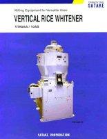 Vertical rice whitener