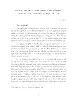 NHỮNG VẤN ĐỀ VỀ CHỐNG PHÂN BIỆT ĐỐI XỬ LAO ĐỘNG  TRONG PHÁP LUẬT LAO ĐỘNG VÀ VIỆC LÀM Ở MỸ