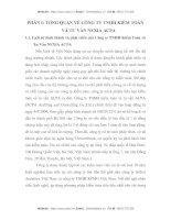 MỘT SỐ GIẢI PHÁP NHẰM HOÀN THIỆN VIỆC VẬN DỤNG THỦ TỤC PHÂN TÍCH TRONG KIỂM TOÁN BÁO CÁO TÀI CHÍNH TẠI CÔNG TY TNHH KIỂM TOÁN VÀ TƯ VẤN NEXIA ACPA
