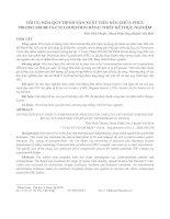 TỐI ƯU HÓA QUY TRÌNH SẢN XUẤT VIÊN NÉN CHỨA PHỨC PIROXICAM-BETA-CYCLODEXTRIN BẰNG THIẾT KẾ THỰC NGHIỆM