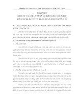 MỘT SỐ VẤN ĐỀ LÝ LUẬN VỀ LIÊN KẾT, HỘI NHẬP  KINH TẾ QUỐC TẾ VÀ TỔNG QUAN THỊ TRƯỜNG EU