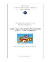 Chiến lược phát triển sản phẩm mới Number 1 Soya- đậu phộng