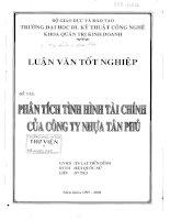 544 Phân tích tình hình tài chính của công ty nhựa Tân Phú