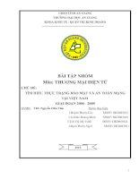 TÌM HIỂU THỰC TRẠNG BẢO MẬT VÀ AN TOÀN MẠNG TẠI VIỆT NAM GIAI ĐOẠN 2006 - 2009