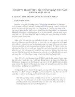 CƠ HỘI VÀ THÁCH THỨC ĐỐI VỚI NÔNG SẢN VIỆT NAM KHI GIA NHẬP ASEAN